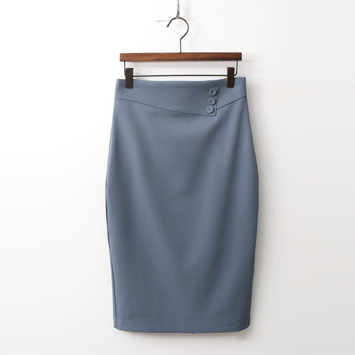 Button Pencil Skirt