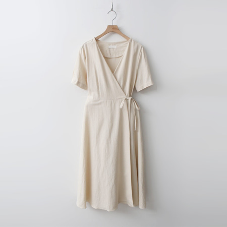 Linen Wrap Long Dress