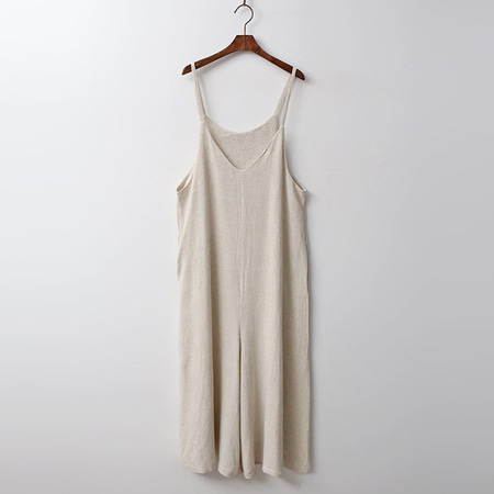 Linen Chic Wide Jumpsuit