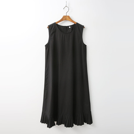 Bio Cotton A-Line Dress - 민소매