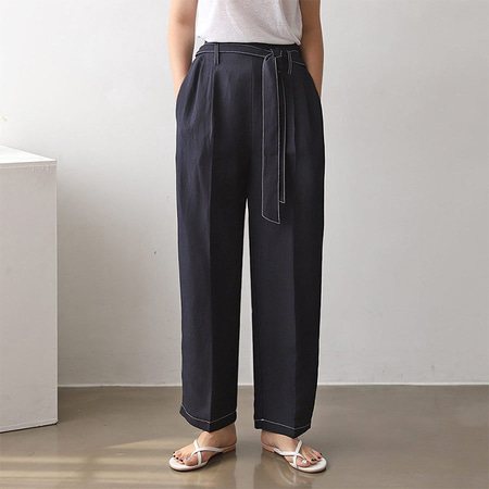 Linen Stitch Baggy Pants