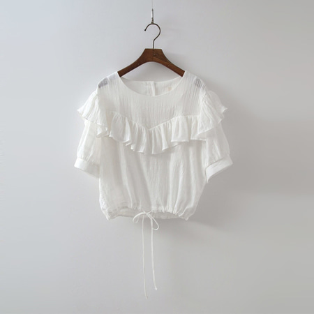 Frill Crop Blouse