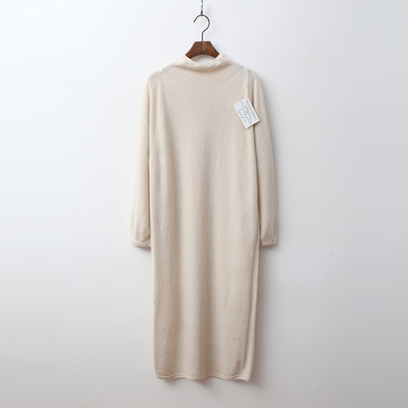 Laine Cashmere N Wool Grace Turtleneck Long Dress