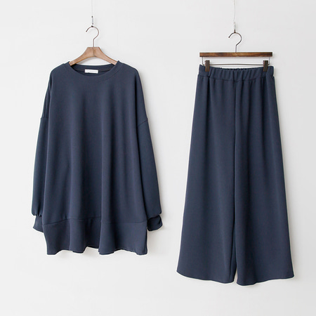 [Set] Gimo Flare Long Tee + Wide Pants