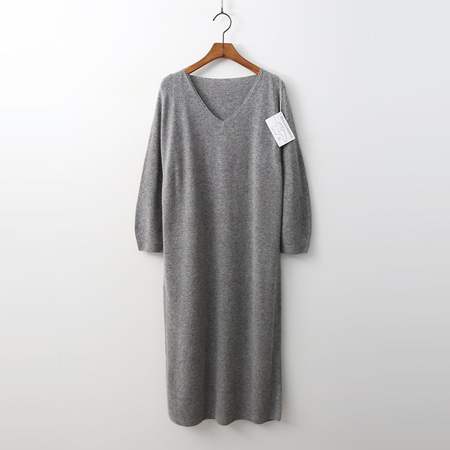 Laine Cashmere N Wool V-Neck Long Dress