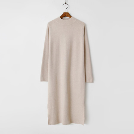 Wool N Cashmere Slit Long Dress