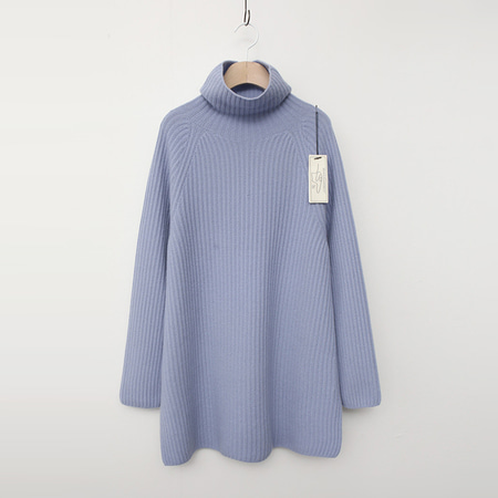 Laine Cashmere Wool Turtleneck Long Sweater