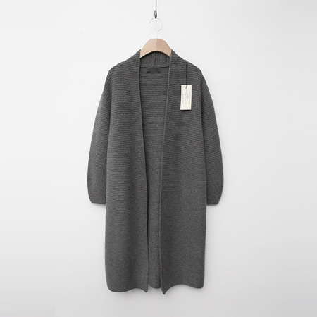 Laine Cashmere Wool Ballon Long Cardigan