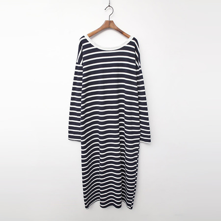 Stripe Boxy Long Dress