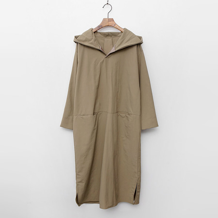 Cotton Nylon Hood Long Dress