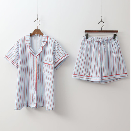 Red Stripe Pajama Set - 커플룩