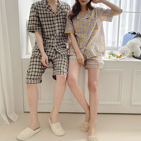 Nana Check Pajama Set - 커플룩