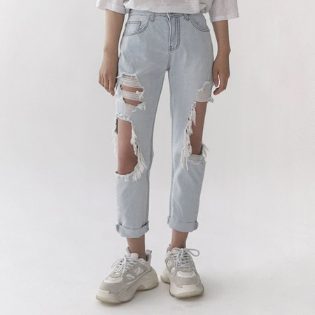 Light Off Distressed Jeans