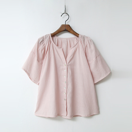 Linen Cotton Button Blouse