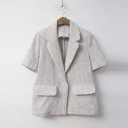 Linen Tweed Jacket - 반팔