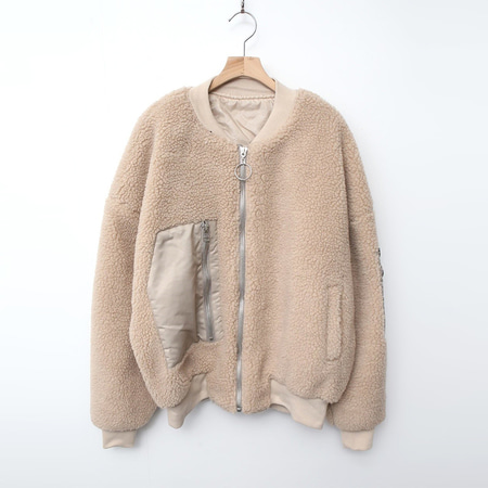 Teddy Bear Bomber Crop Jumper