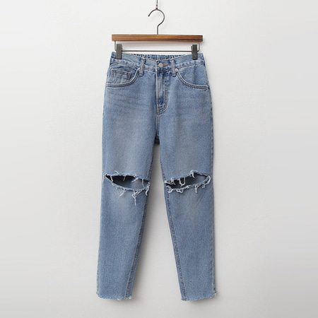 Blue Boy Fit Distressed Jeans