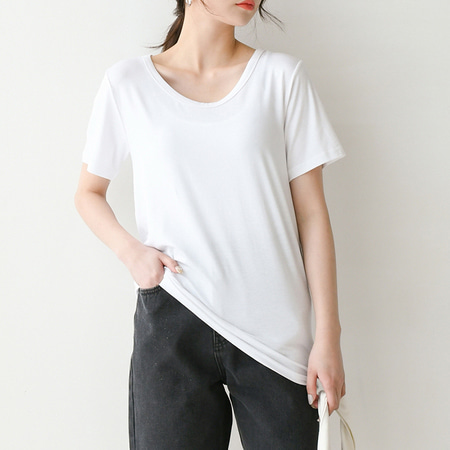 [SET] Paris U-Neck Tee 2qty